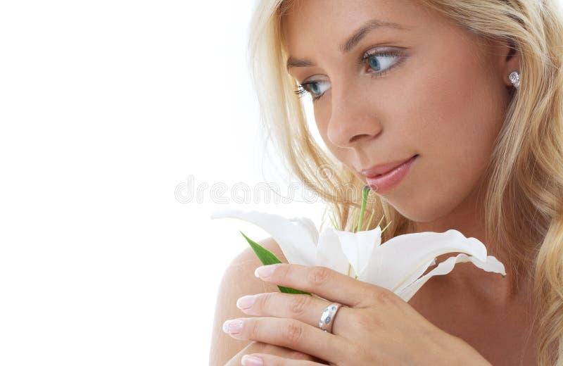 2 lily blondynką madonny zdjęcie stock