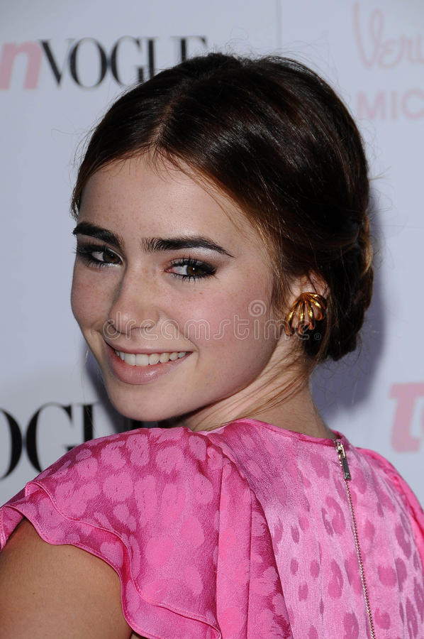 Lily Collins royalty free stock images