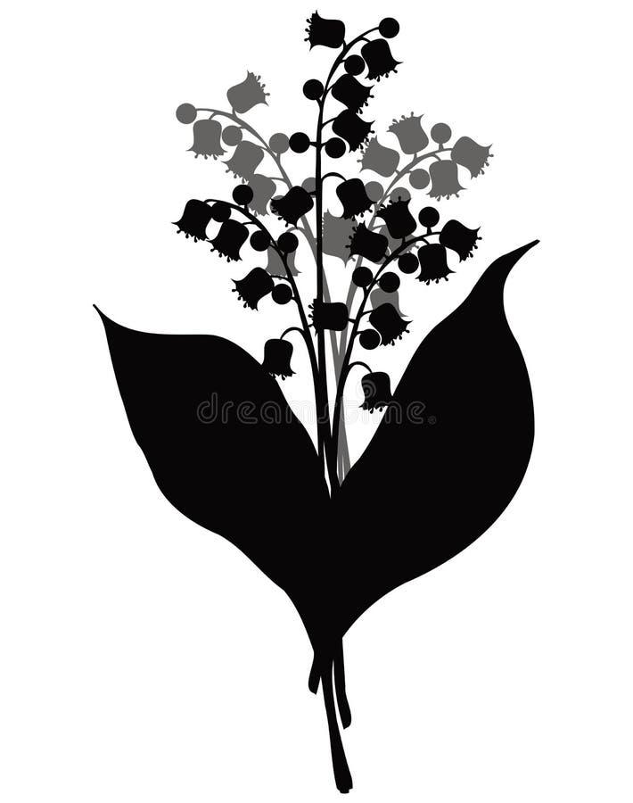 lily doliny wektora ilustracja wektor