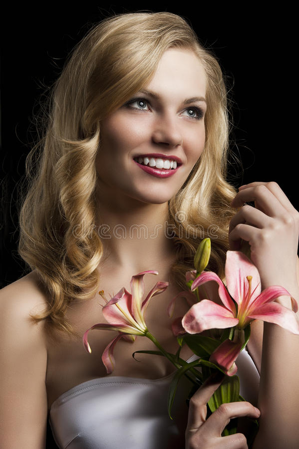 Download Lily Fashion Portarit, She Looks At Left, She Laug Royalty Free Stock Images - Image: 24635619