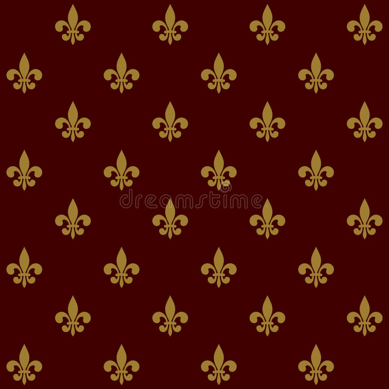 Lily Fleur de Lis Seamless Pattern real Vector libre illustration