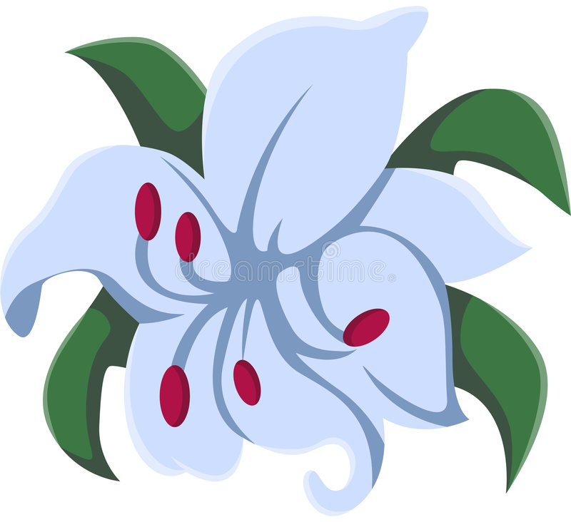 Download Lily flower stock illustration. Image of ornament, plant - 8354996