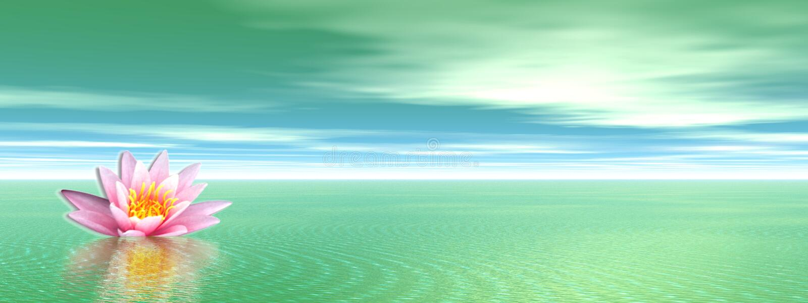 Download Lily flower in green ocean stock illustration. Image of lotus - 17879083