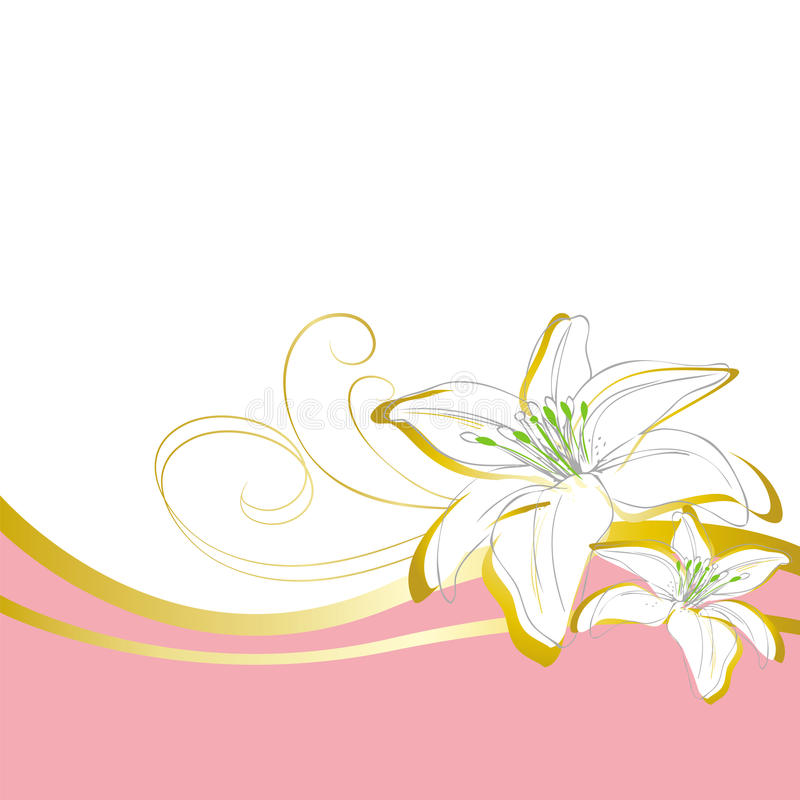 Lily flowers wave background stock vector illustration of white download lily flowers wave background stock vector illustration of white greeting 65163805 mightylinksfo