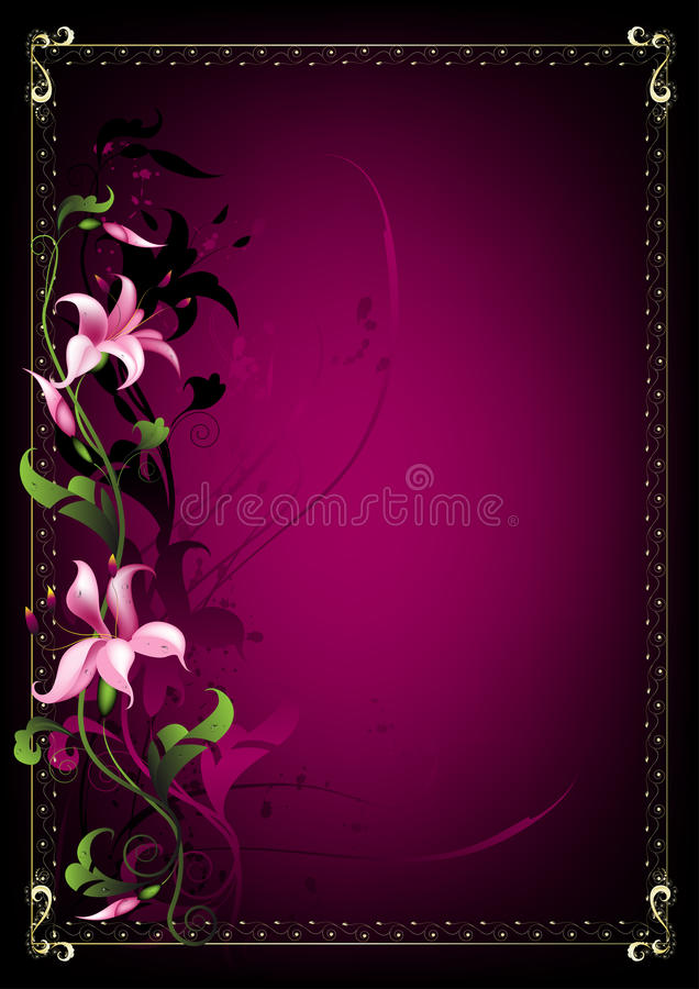 Download Lily frame stock vector. Image of pattern, ornament, illustration - 13795739
