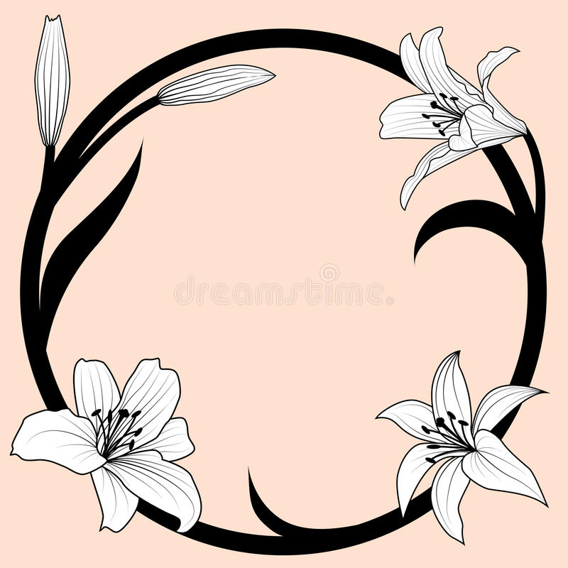 Download Lily frame stock vector. Image of background, frame, design - 17397908