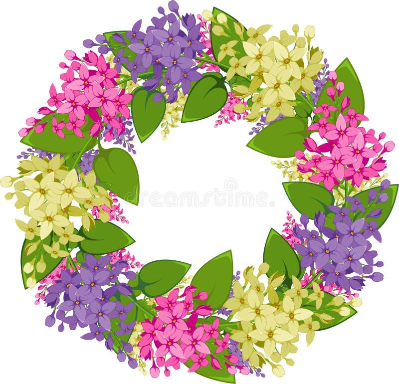 lily gałązek wektoru wianek royalty ilustracja