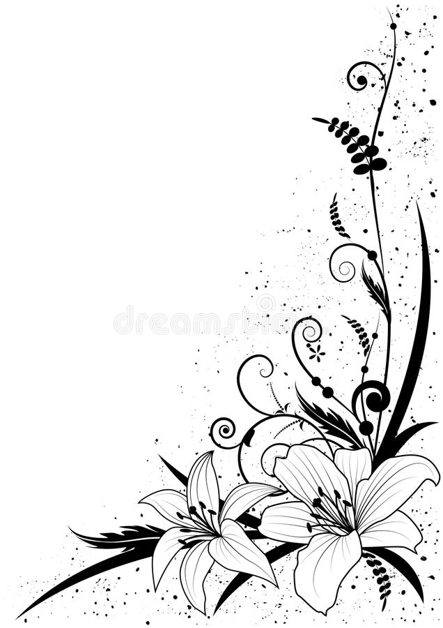 lily and grass stock vector illustration of vector