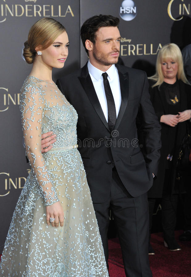 Lily James & Richard Madden fotografia de stock