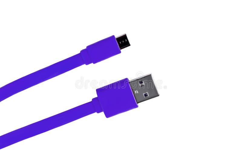 Lily kabla mikro usb odizolowywający zdjęcie stock