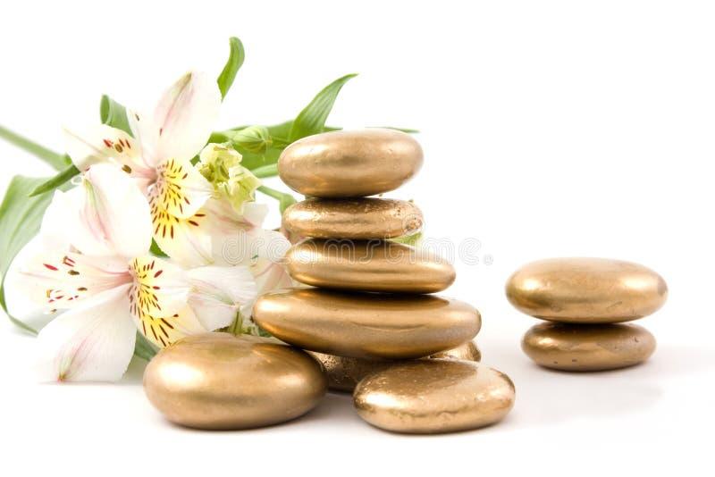 lily kamień w spa. zdjęcie stock
