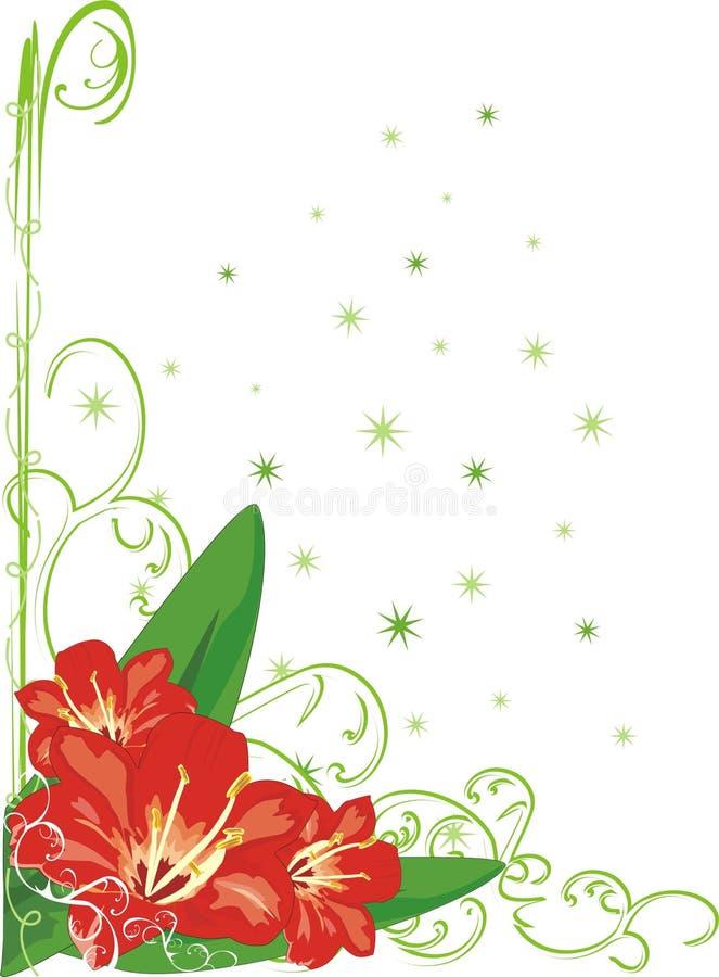 lily kwiecista wystrój royalty ilustracja