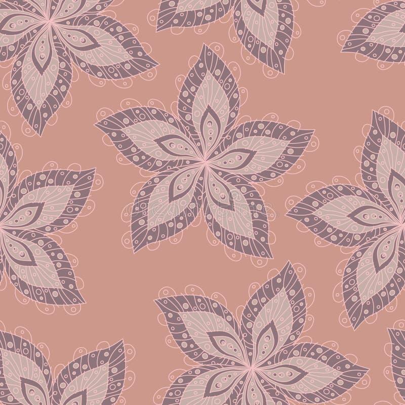 Lily kwiecisty bezszwowy tło obrazy stock