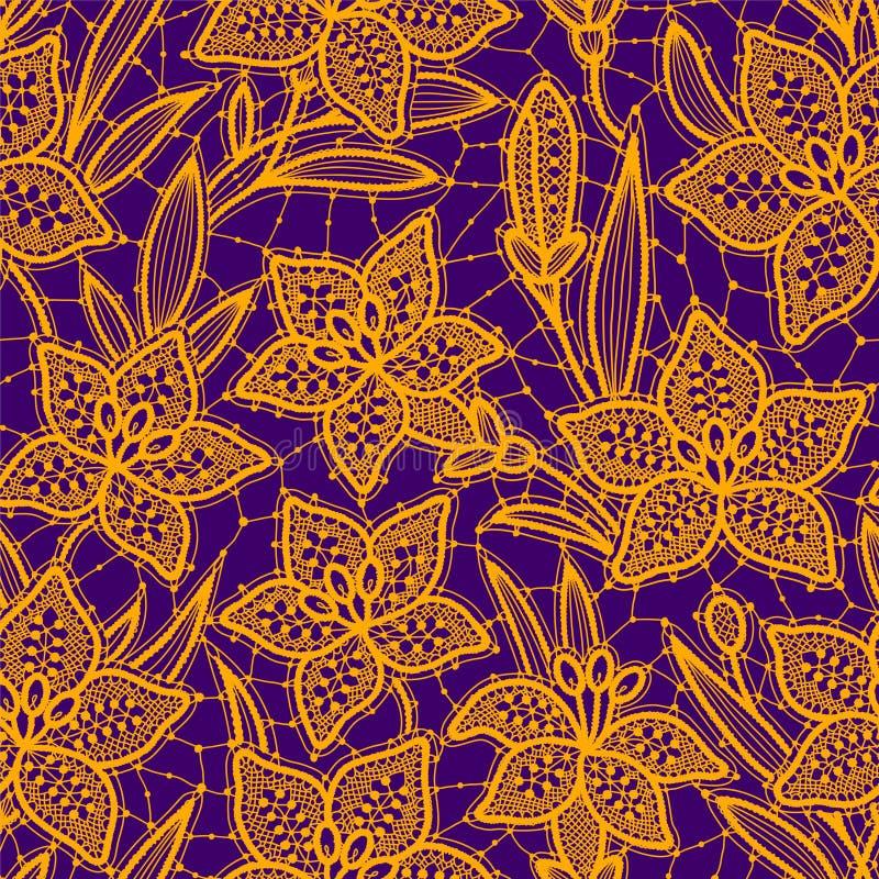 Lily Lace Nahtloses Muster vektor abbildung