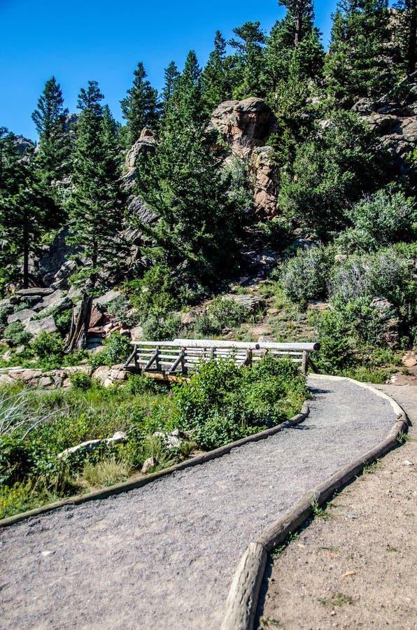 Lily Lake Rocky Mountain National Park Colorado Trail stock photography