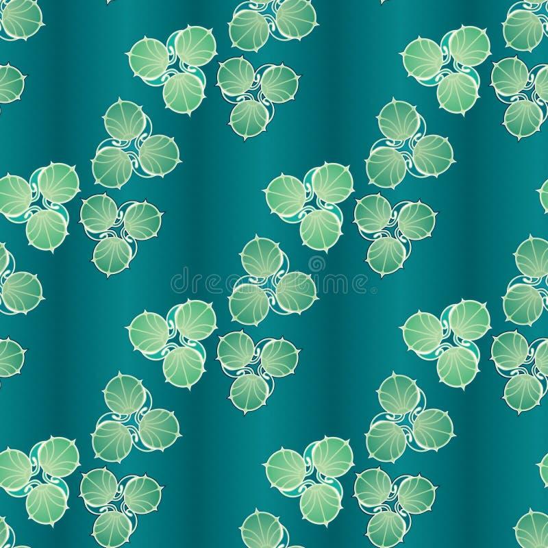 Lily Pads Wallpaper abstraite illustration de vecteur