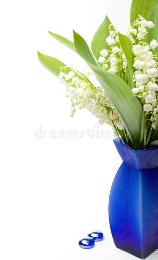Download Lily-of-the-valley bouquet stock photo. Image of vase - 14398466