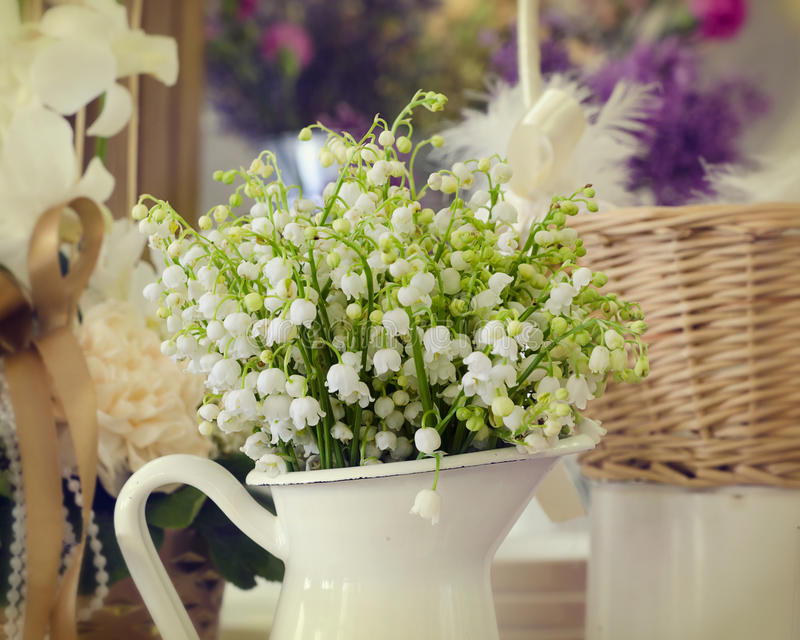 Lily of valley flowers stock photos