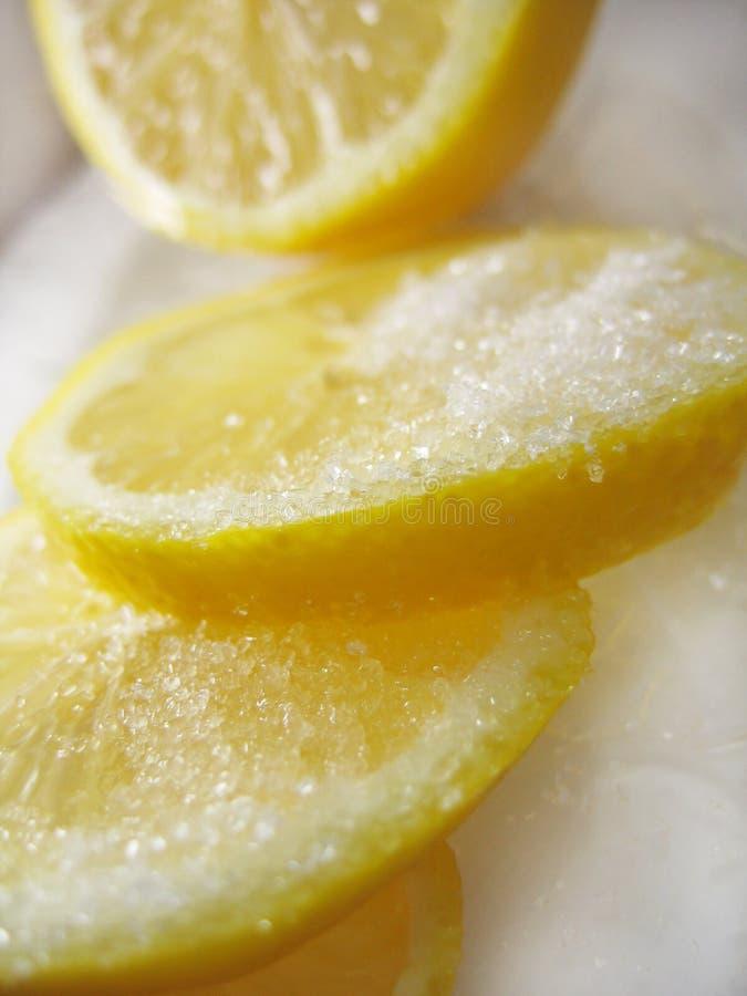 Limão com açúcar imagem de stock