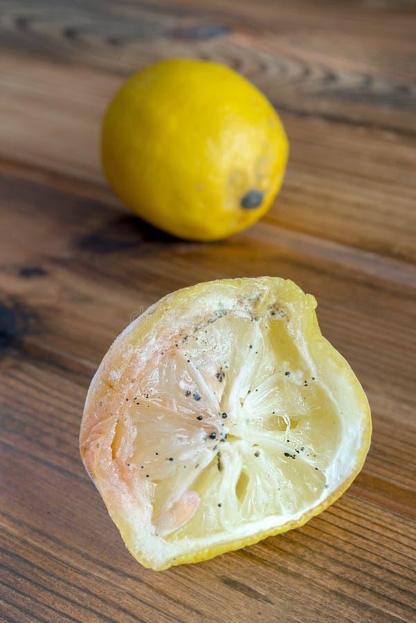 Limão com molde imagens de stock