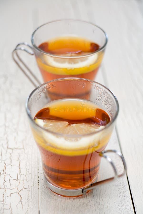 Limão do chá fotos de stock