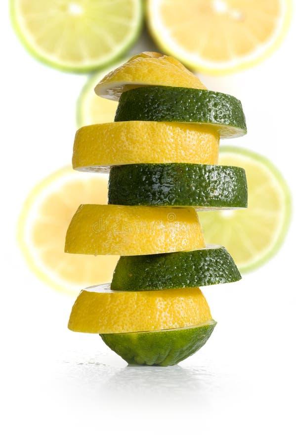Limão e cal imagens de stock