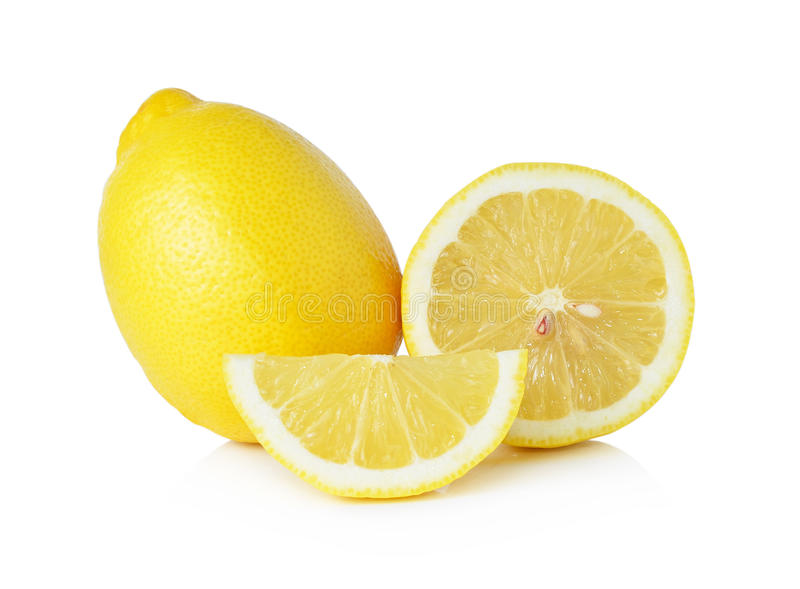 Limão e fatia imagem de stock royalty free