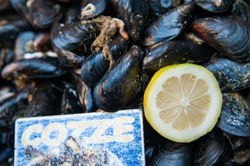 Limão e mexilhões imagem de stock royalty free