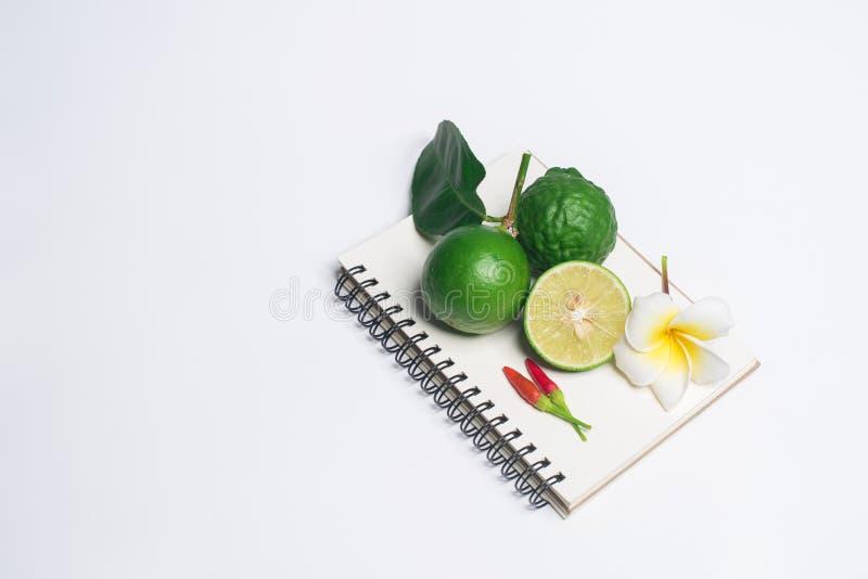 Limão em um fundo branco imagem de stock royalty free