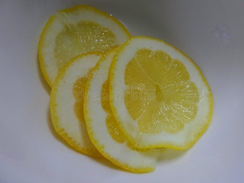 Limão fresco da fatia fotografia de stock