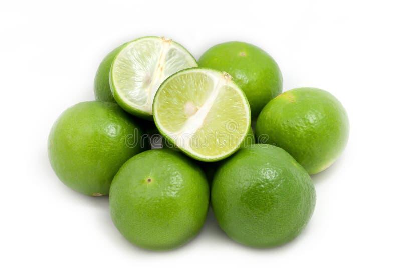 Limão verde no grupo fotos de stock royalty free