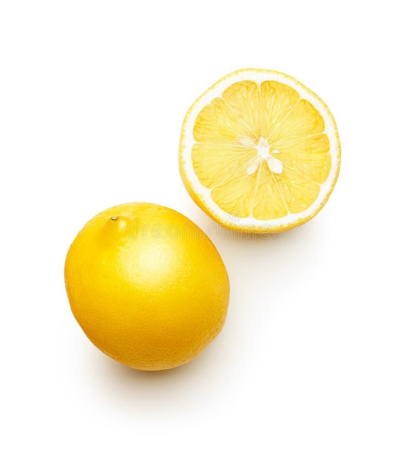 Limón aislado en el fondo blanco imagen de archivo libre de regalías