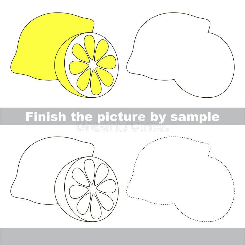 Limón amargo Hoja de trabajo del dibujo ilustración del vector