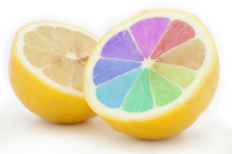 Limón coloreado foto de archivo libre de regalías