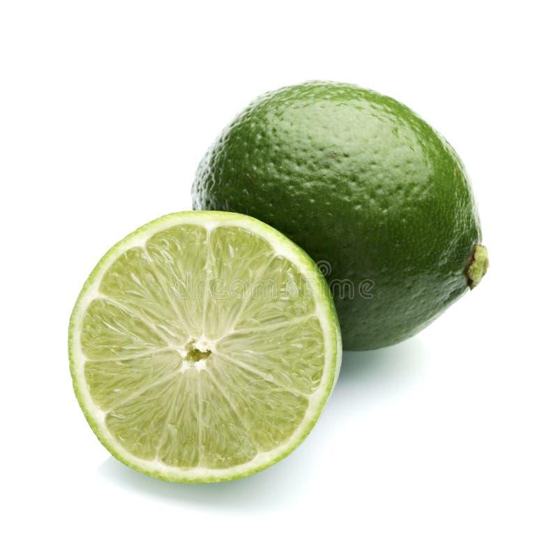 Limón con el medio limón imagen de archivo libre de regalías