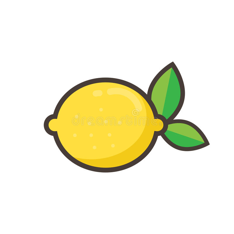 Limón de la historieta stock de ilustración