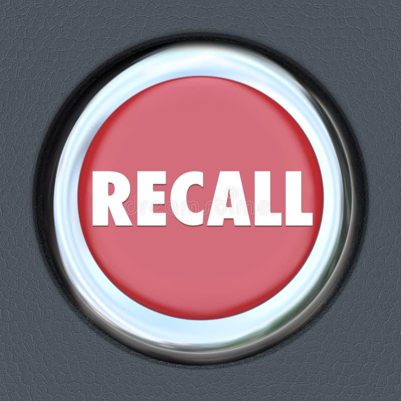 Limón defectuoso del arreglo de la reparación del vehículo del botón de la ignición del coche de memoria stock de ilustración