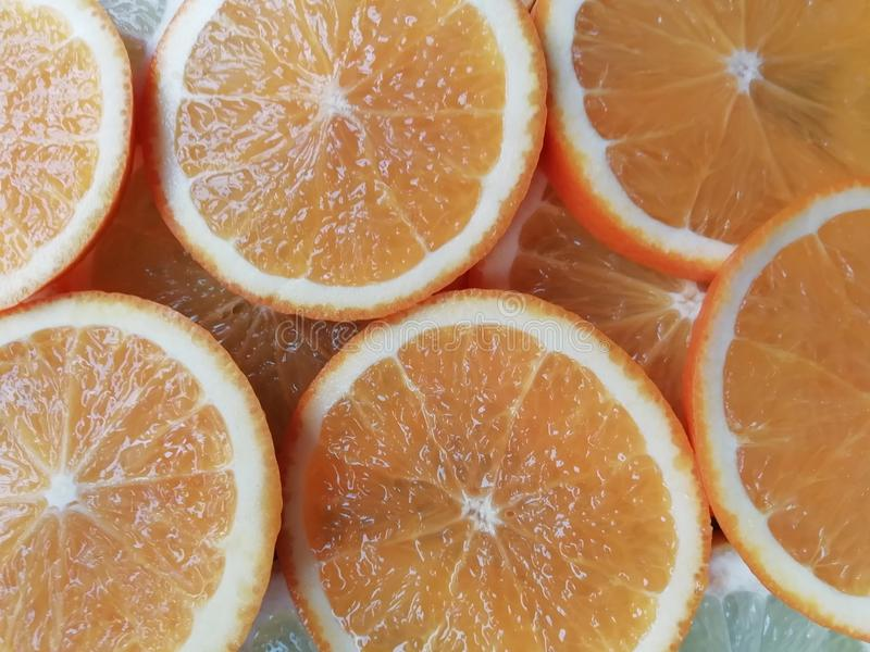 Limón excesivo anaranjado de las diapositivas imagen de archivo libre de regalías