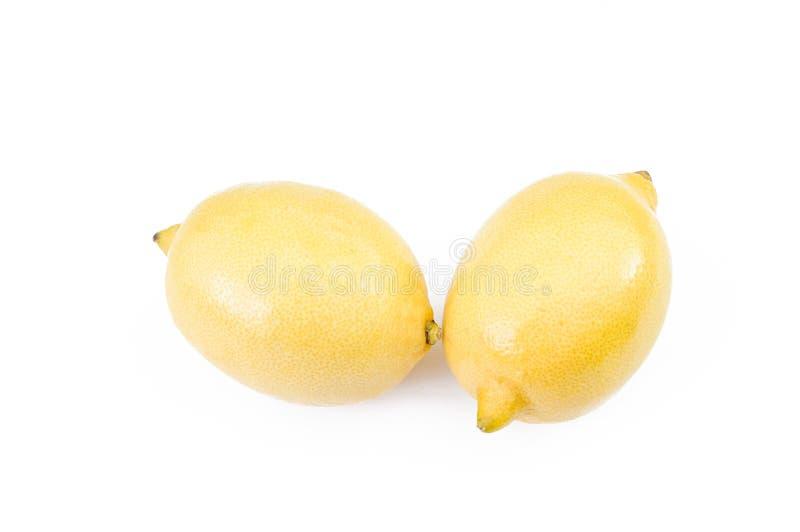 Limón maduro amarillo sobre el fondo blanco foto de archivo libre de regalías