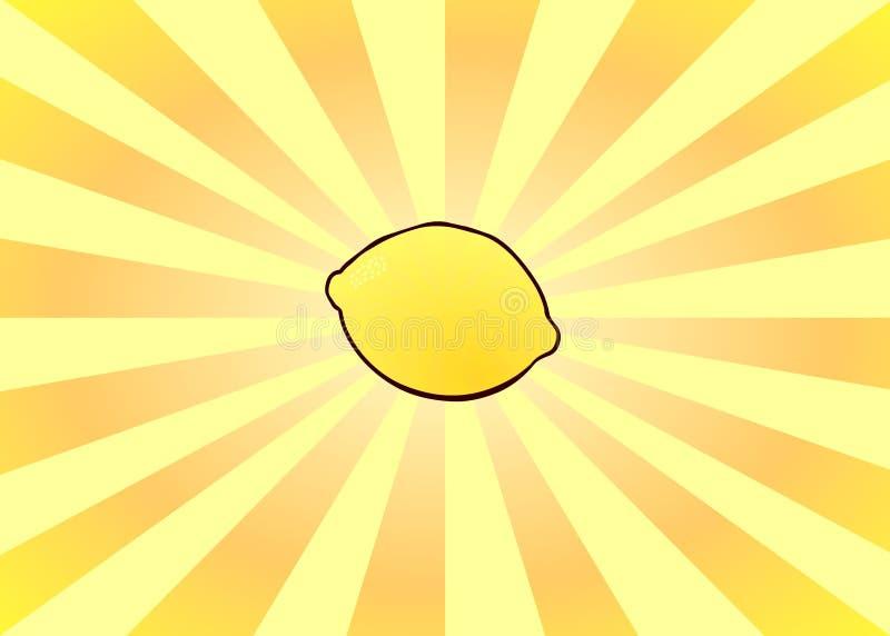 Limón radiante ilustración del vector