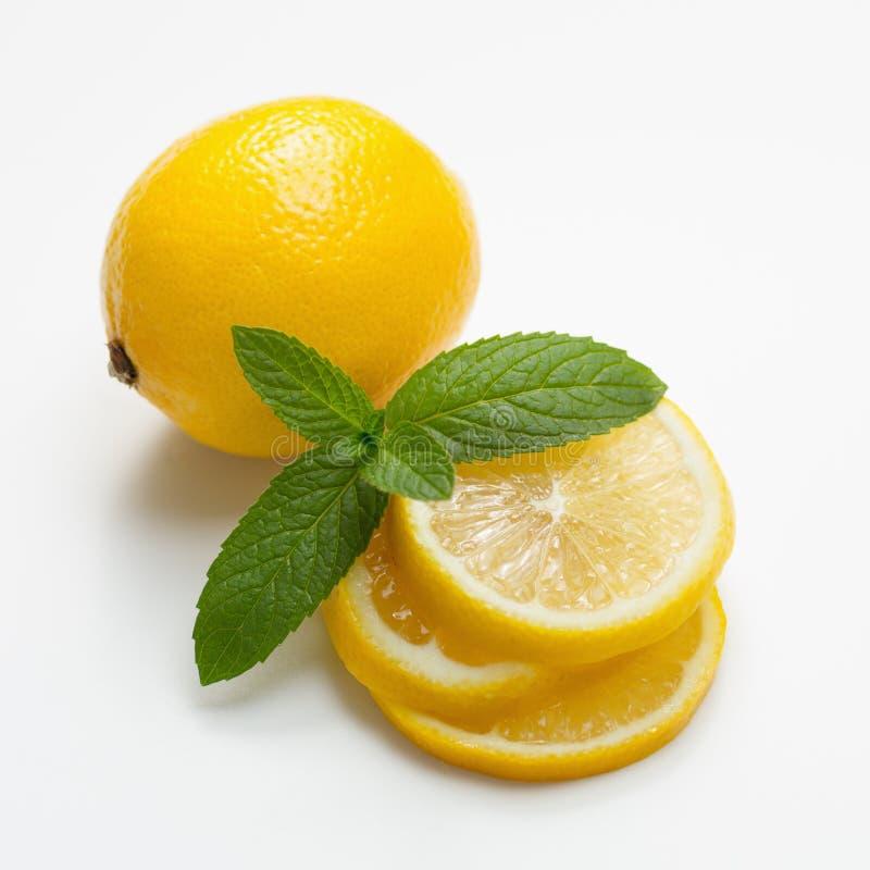 Limón y menta fotografía de archivo libre de regalías