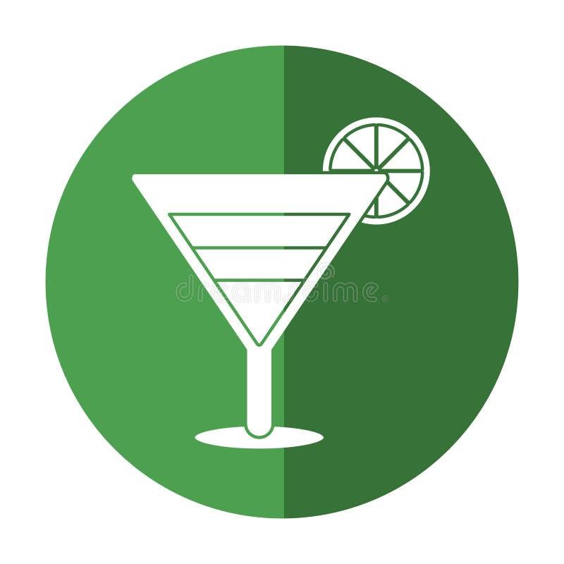 Limón y sombra del cóctel del refresco stock de ilustración