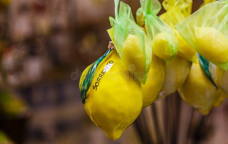 Limões em Sorrento foto de stock royalty free