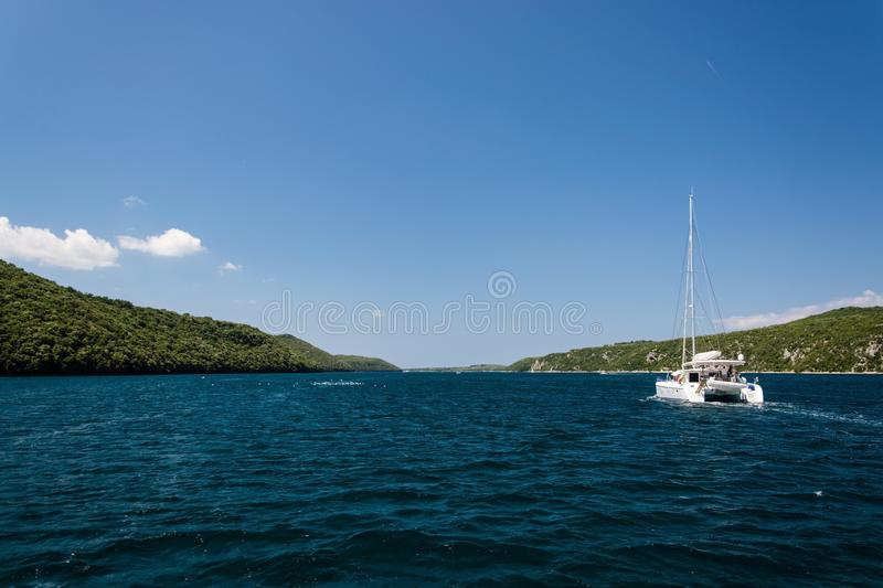 Lim-baie, Istria, Croatie photos stock