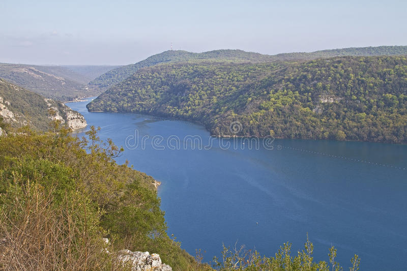 Download Lim Channel stock photo. Image of azure, ravine, croatia - 25419586