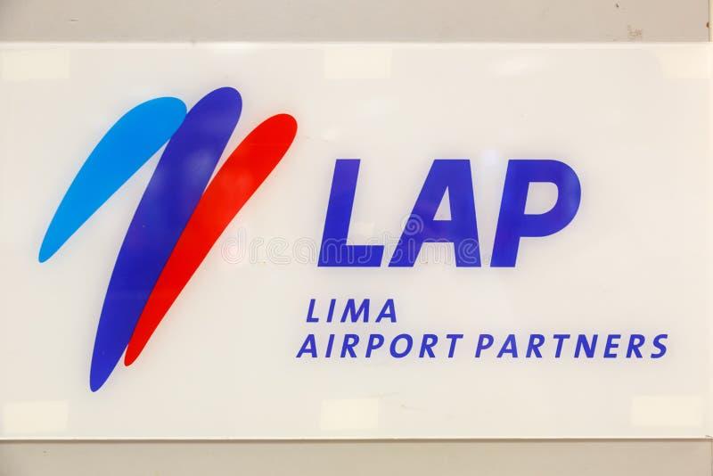 Lima Airport Partners LAP-teken Aeropuerto royalty-vrije stock foto's
