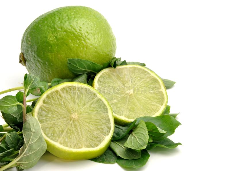 Lima along with lime slices stock photography