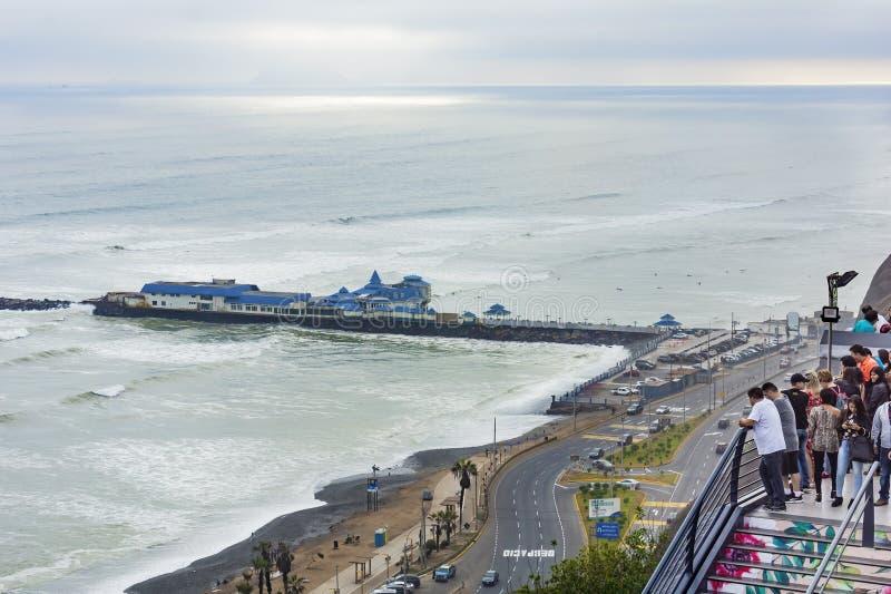 Lima, Bezirk Miraflores, Costa Verde Peru lizenzfreies stockfoto