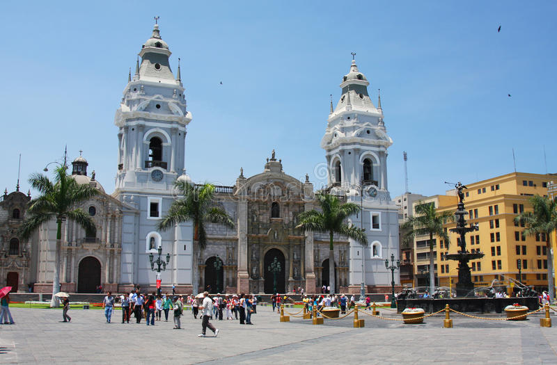 Download Lima Cathedral in Peru editorial stock photo. Image of armas - 27864688