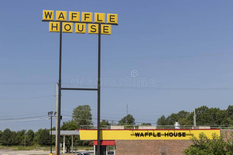 Waffle House Iconic Southern Restaurant Chain. Waffle House was founded in 1955 stock photo